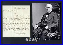 13th US PRESIDENT Millard Fillmore autograph, handwritten letter signed