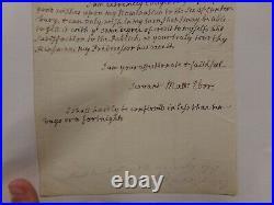 1757 Archbishop of Canterbury Matthew Hutton Handwritten letter (visible tremor)
