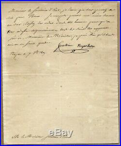 1809 Letter Handwritten & Signed by Joachim Napoleon MURAT + COA