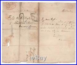 1810s THOMAS MOORE ALS Autograph HANDWRITTEN LETTER Irish IRELAND Poet SINGER