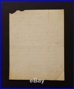1815 THOMAS B. ROBERTSON Signed Handwritten Letter & Engraved Photo Governor