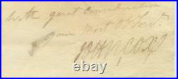 1820 Georgetown Washington DC Colonel John Cox Hand Written Signed Mailed Letter