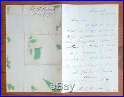 1870 WILLIAM H. PRESCOTT Original SIGNED Handwritten LETTER AUTOGRAPH History