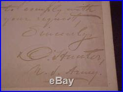 1872 Vice President Henry Wilson Autographed Signed Handwritten Letter
