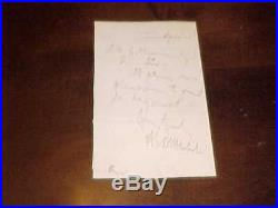 1881 Ambrose E Burnside Autographed Hand Written Letter Rhode Island Senator