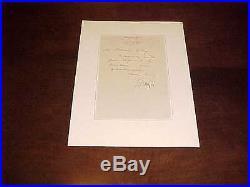 1883 Union General William Babcock Hazen Autographed Signed Handwritten Letter