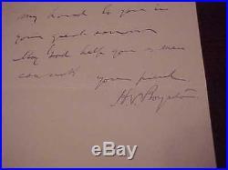 1884 General Henry Boynton Autographed Signed Hand Written Letter Civil War