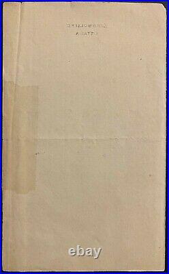 1884 Sir John A MacDonald Handwritten Signed Letter Autographed Vintage JSA LOA