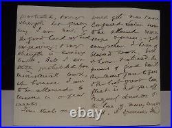 1885 Horatius Bonar (preacher, author, missionary) handwritten letter