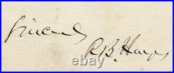 1885 President Rutherford B. Hayes Handwritten Letter Signed ALS Beckett BAS