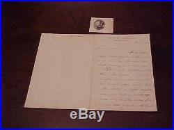 1891 Union General William Rosecrans Hand Written Autographed Signed Letter