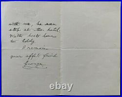 1895 Vintage Signed UK King George V Autographed Vtg Handwritten Letter JSA