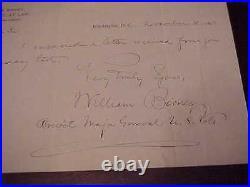 1897 Major General William Birney Signed Hand Written Letter Civil War