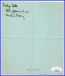 1905 Carolyn Wells Autographed Hand Signed 2 Page Handwritten Letter ALS JSA COA