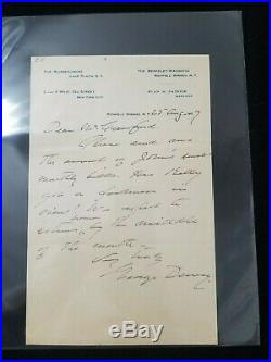 1907 Admiral George Dewey Handwritten Signed Autographed Letter Battle of Manila