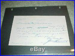 1915 New Jersey Supreme Court Justice James Minturn Signed Hand Written Letter