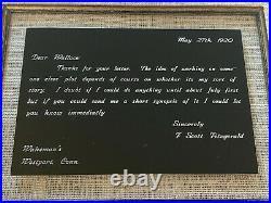 1920 F. Scott Fitzgerald Autograph Handwritten Signed Letter Wakemans Westport