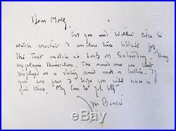 1934 Sir James Matthew J. M. Barrie Handwritten Signed Letter Peter Pan Creator