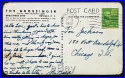 1939 MAX BAER handwritten & signed postcard autographed Joe Louis boxing era