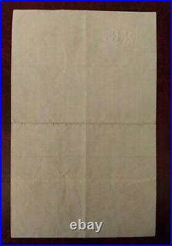 1942 British Prime Minister Anthony Eden Hand signed war time letter