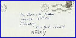 1968 Thomas Hart Benton Signed Autographed Handwritten Letter and Envelope
