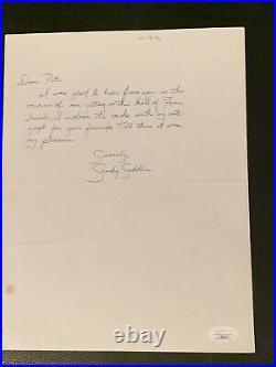 1972 Sandy Saddler Hand Written Vintage Boxing Letter Signed JSA COA Autograph