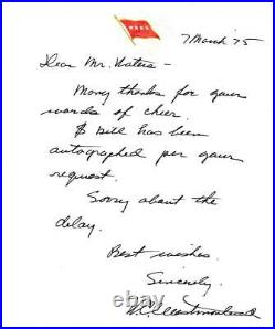 1975 General William Westmoreland Autographed Signed Hand Written Letter