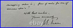 1975 Vintage Signed Explorer Sir Vivian Fuchs Autographed Handwritten Letter