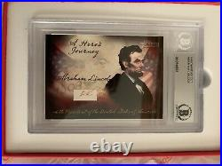 ABRAHAM LINCOLN 1 HAND WRITTEN WORDS FROM DUAL SIGNED AUTOGRAPH LETTER Beckett