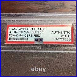 ABRAHAM LINCOLN PSA/DNA Slabbed Early Handwritten Autograph Letter Signed