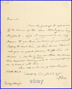 ALEXANDER HAMILTON Cut Signature & AARON BURR Handwritten Letter, BOTH SIGNED