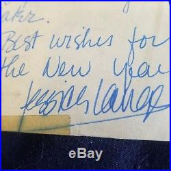 ALS JESSICA LANGE Signed letter to fan autograph hand written Oscar Winner SAG