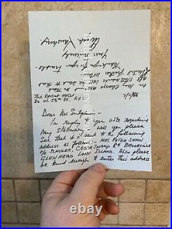 ANGELA LANSBURY handwritten letter to Tiffany & Co signed twice autograph