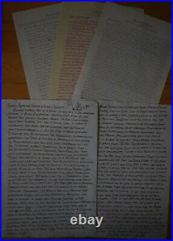 ARNOLD FRIBERG USA artist Handwritten letters etc Painted Royalty, Queen etc