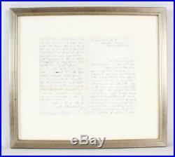 Abner Doubleday Signed Handwritten Letter COA JSA