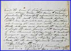 Abraham Lincoln 8 Hand Written Words From Dual Signed Autograph Letter Psa/dna