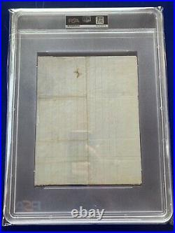 Abraham Lincoln Signed Autographed Handwritten Letter PSA DNA Slabbed 1857 Auto