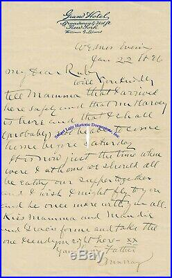 Adirondack Murray archive inc/his Xmas book, photograph & handwritten letter