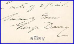 Admiral George Dewey SIGNED AUTOGRAPHED Handwritten Letter 1902