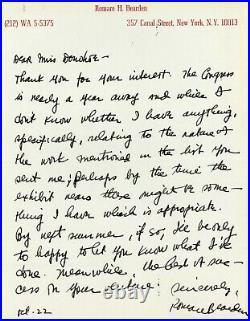 African American artist Romare Bearden handwritten letter and envelope 1975-76