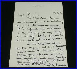 Albert B Happy Chandler Signed Handwritten Letter Governor Senator Baseball HoF