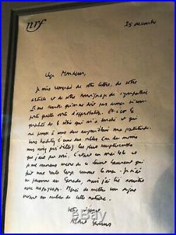Albert Camus original 1948 handwritten letter, Envelope, Photo, Translation