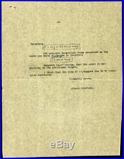 Albert Einstein Letter Signed with Original Handwritten Equations & Diagrams