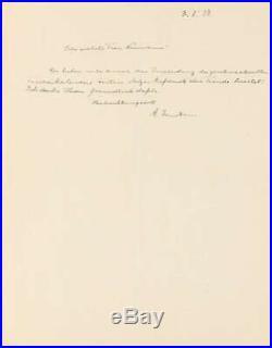 Albert Einstein Signed Autographed 1928 Handwritten Letter Beckett BAS