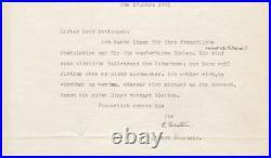 Albert Einstein Wonderful content typed letter signed with handwritten edition