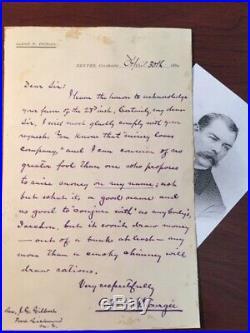Albion W. Tourgee Handwritten Letter Signed Lawyer Plessy V. Ferguson, Author