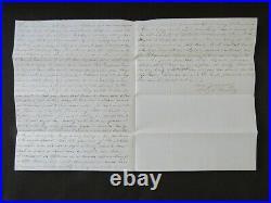 Alexander Hamiltons Grandson Schuyler Hamilton Hand Written Letter Mueller COA