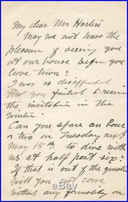 Alexander von Humboldt autograph, handwritten letter signed