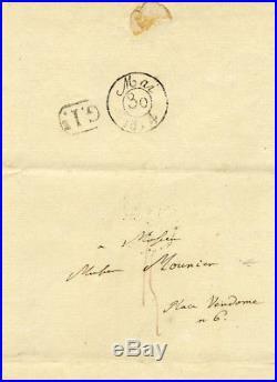 Alexander von Humboldt autograph, handwritten letter signed & mounted