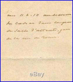 Alexandre Dumas (fils) TOP autograph, handwritten letter signed